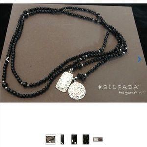 Silpada N1467 Black Onyx Lariat Wrap necklace